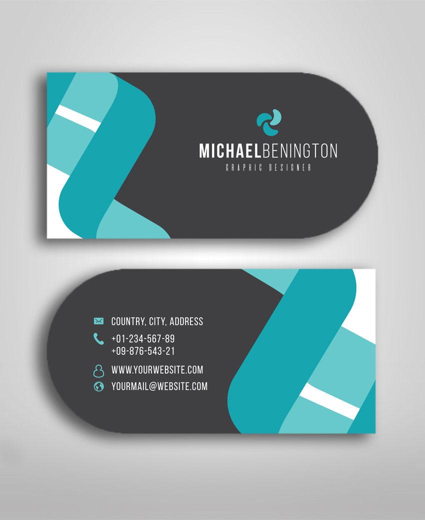 half circle business card design  u0026 printing