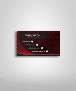 Single side business card